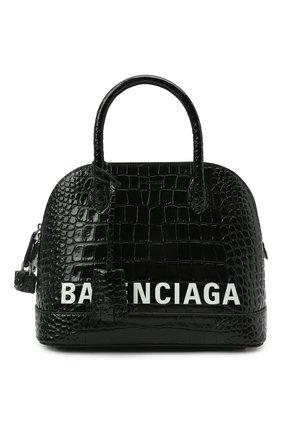 Женская сумка ville BALENCIAGA черного цвета, арт. 550645/1LRP3 | Фото 1 (Сумки-технические: Сумки через плечо, Сумки top-handle; Материал: Натуральная кожа; Ремень/цепочка: На ремешке; Размер: medium)