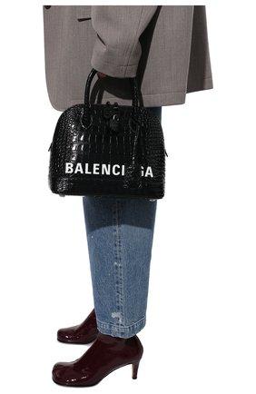 Женская сумка ville BALENCIAGA черного цвета, арт. 550645/1LRP3 | Фото 2 (Сумки-технические: Сумки через плечо, Сумки top-handle; Материал: Натуральная кожа; Ремень/цепочка: На ремешке; Размер: medium)