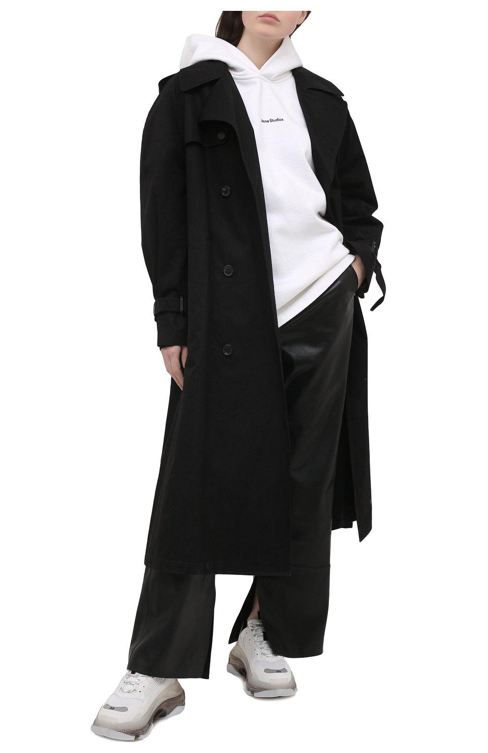 Женские комбинированные кроссовки triple s BALENCIAGA белого цвета, арт. 544351/W2GS1 | Фото 2 (Материал внешний: Текстиль; Подошва: Платформа; Материал внутренний: Текстиль)