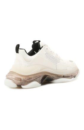Женские комбинированные кроссовки triple s BALENCIAGA белого цвета, арт. 544351/W2GS1 | Фото 4 (Материал внешний: Текстиль; Подошва: Платформа; Материал внутренний: Текстиль)