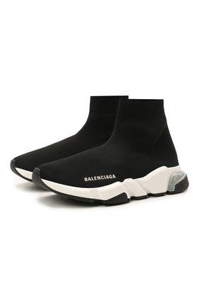 Женские текстильные кроссовки speed BALENCIAGA черного цвета, арт. 607543/W2DB6 | Фото 1