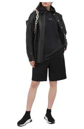Женские текстильные кроссовки speed BALENCIAGA черного цвета, арт. 607543/W2DB6 | Фото 2