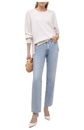 Женские кожаные туфли clare sling 80 CHRISTIAN LOUBOUTIN белого цвета, арт. 3200041/CLARE SLING 80   Фото 2