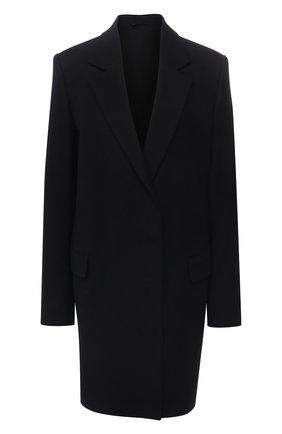 Женское пальто из шерсти и хлопка ACNE STUDIOS черного цвета, арт. A90340 | Фото 1
