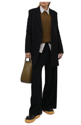 Женское пальто из шерсти и хлопка ACNE STUDIOS черного цвета, арт. A90340 | Фото 2