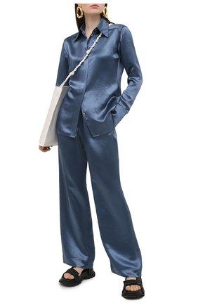 Женские брюки ACNE STUDIOS синего цвета, арт. AK0366 | Фото 2