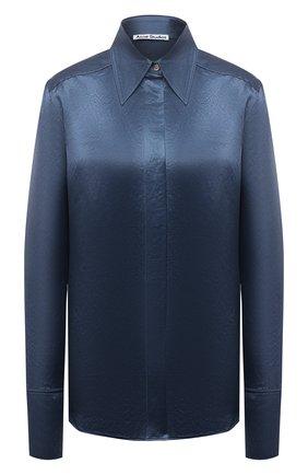 Женская рубашка ACNE STUDIOS синего цвета, арт. AC0344 | Фото 1