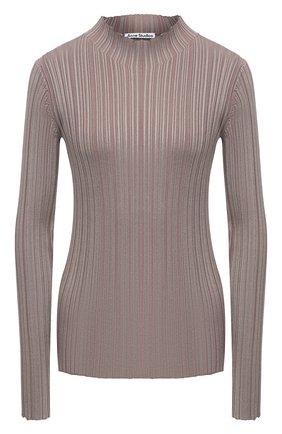 Женский пуловер из вискозы и хлопка ACNE STUDIOS светло-коричневого цвета, арт. A60253   Фото 1