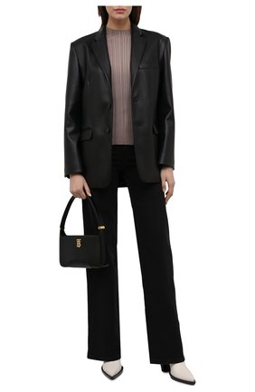 Женский пуловер из вискозы и хлопка ACNE STUDIOS светло-коричневого цвета, арт. A60253   Фото 2