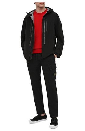 Мужской свитер из хлопка и шелка STONE ISLAND SHADOW PROJECT красного цвета, арт. 7419506A4 | Фото 2