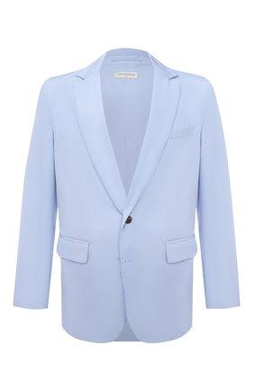 Мужской хлопковый пиджак DRIES VAN NOTEN голубого цвета, арт. 211-20408-2228 | Фото 1