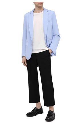 Мужской хлопковый пиджак DRIES VAN NOTEN голубого цвета, арт. 211-20408-2228 | Фото 2