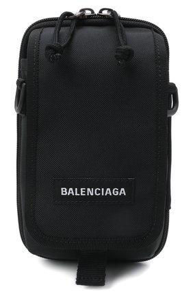 Мужская текстильная сумка explorer BALENCIAGA черного цвета, арт. 593329/2HFBX   Фото 1 (Ремень/цепочка: На ремешке; Материал: Текстиль)