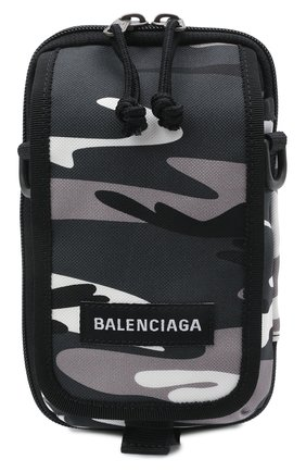 Мужская текстильная сумка explorer BALENCIAGA серого цвета, арт. 593329/2BKNX   Фото 1 (Ремень/цепочка: На ремешке; Материал: Текстиль)