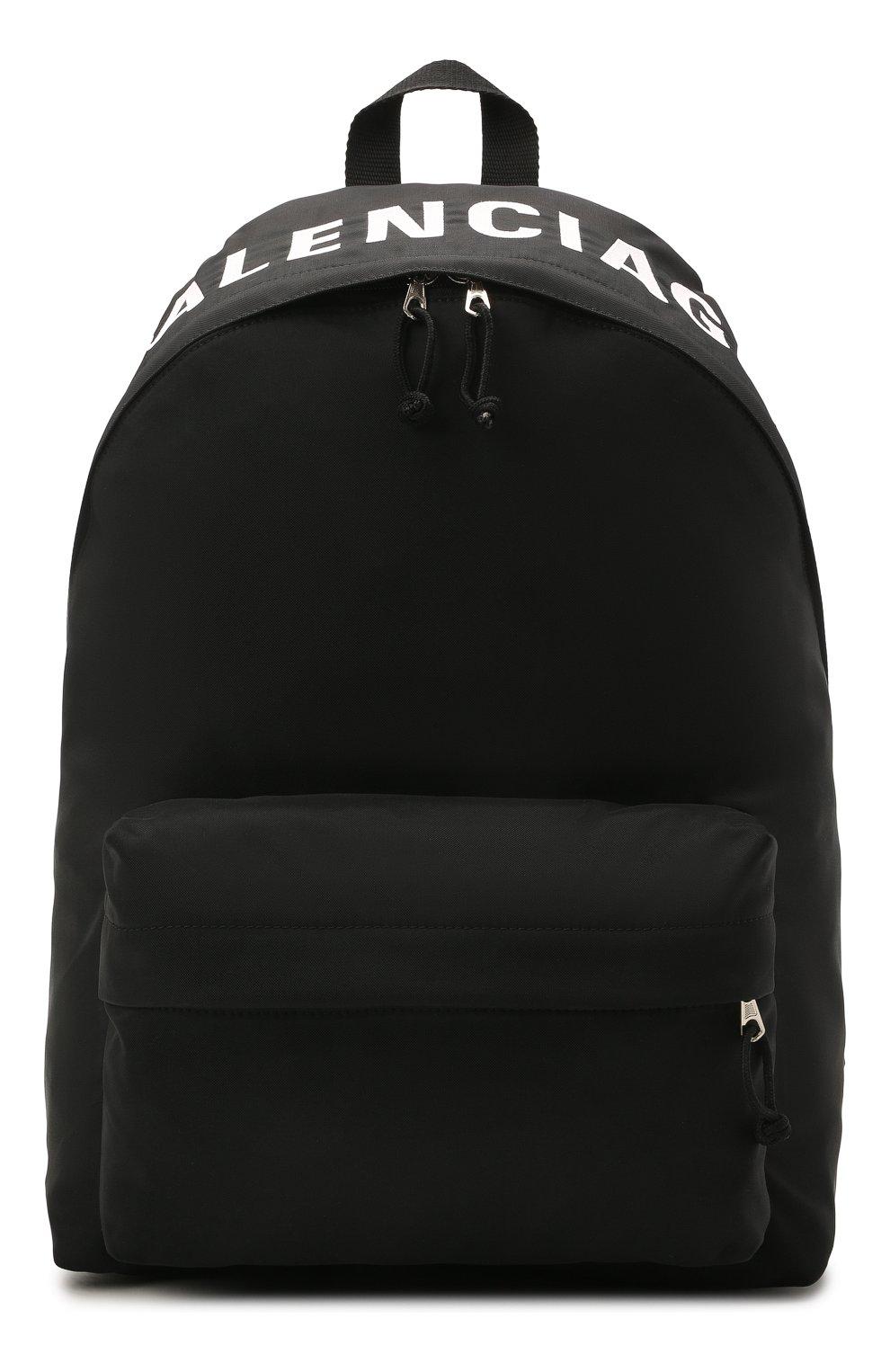 Мужской текстильный рюкзак wheel BALENCIAGA черного цвета, арт. 507460/H853X | Фото 1 (Материал: Текстиль)