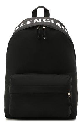 Мужской текстильный рюкзак wheel BALENCIAGA черного цвета, арт. 507460/H853X | Фото 1