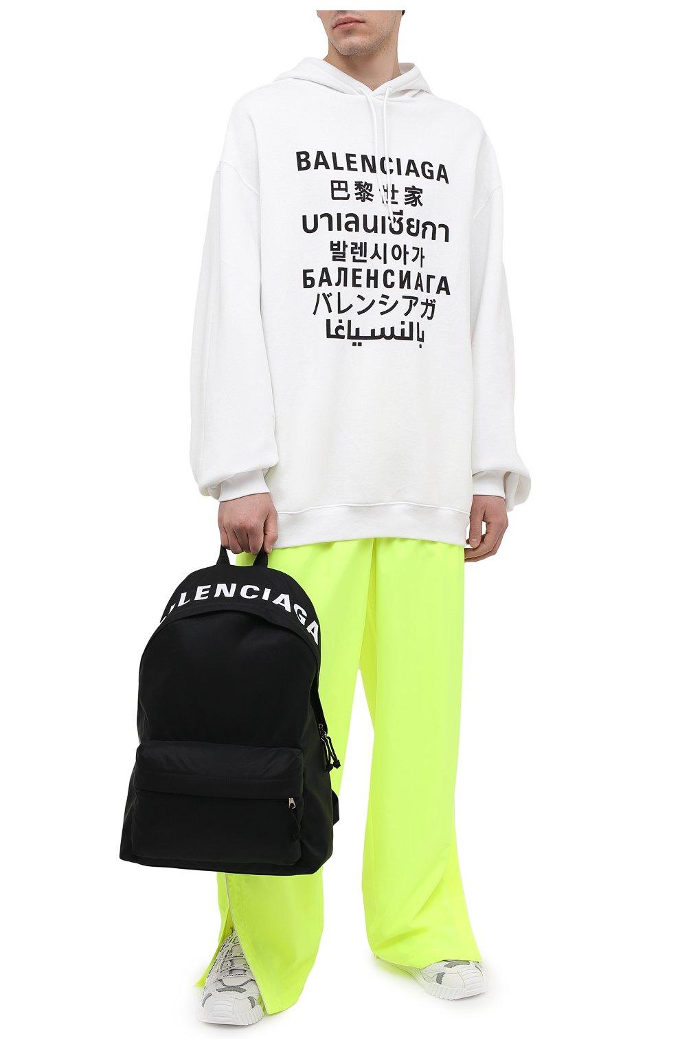 Мужской текстильный рюкзак wheel BALENCIAGA черного цвета, арт. 507460/H853X | Фото 2 (Материал: Текстиль)
