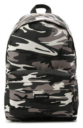 Мужской текстильный рюкзак explorer BALENCIAGA серого цвета, арт. 503221/2BKLX   Фото 1 (Материал: Текстиль)