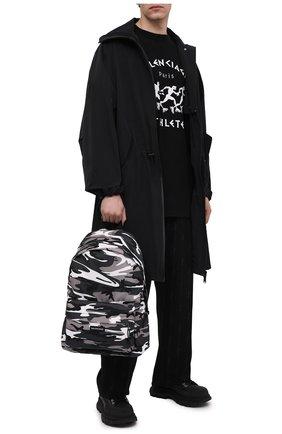 Мужской текстильный рюкзак explorer BALENCIAGA серого цвета, арт. 503221/2BKLX   Фото 2 (Материал: Текстиль)