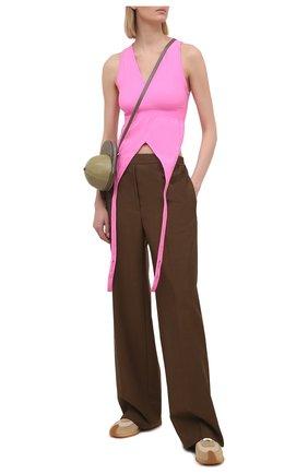 Женский топ HELMUT LANG розового цвета, арт. K10HW503 | Фото 2