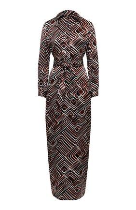 Женское шелковое платье KITON коричневого цвета, арт. D51312K09T77 | Фото 1