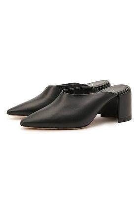 Женские кожаные мюли AGL черного цвета, арт. D239058PAKL0291049   Фото 1