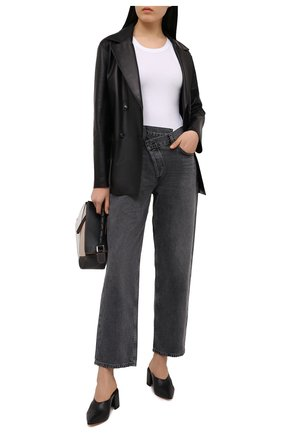 Женские кожаные мюли AGL черного цвета, арт. D239058PAKL0291049   Фото 2