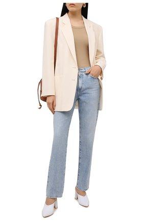 Женские кожаные мюли AGL белого цвета, арт. D239058PAKL029D320 | Фото 2