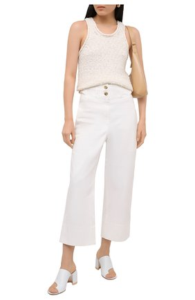 Женские кожаные мюли AGL белого цвета, арт. D661002PCKL031D325   Фото 2