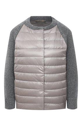 Женская пуховая куртка HERNO серого цвета, арт. MP0007D/12017 | Фото 1