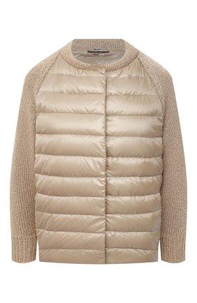 Женская пуховая куртка HERNO бежевого цвета, арт. MP0007D/12017 | Фото 1