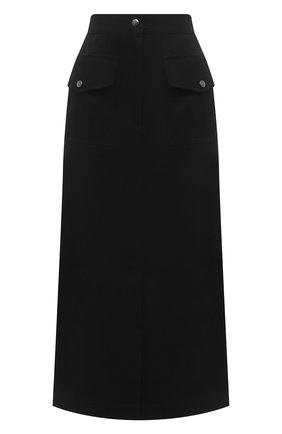 Женская хлопковая юбка DRIES VAN NOTEN черного цвета, арт. 211-10812-2044 | Фото 1