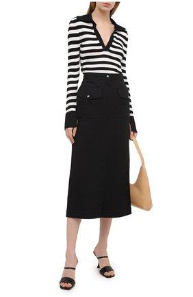 Женская хлопковая юбка DRIES VAN NOTEN черного цвета, арт. 211-10812-2044 | Фото 2