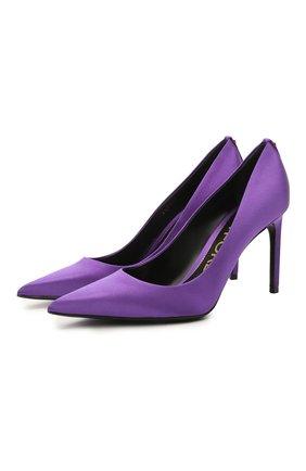 Женские текстильные туфли t-screw TOM FORD фиолетового цвета, арт. W2326T-STA | Фото 1