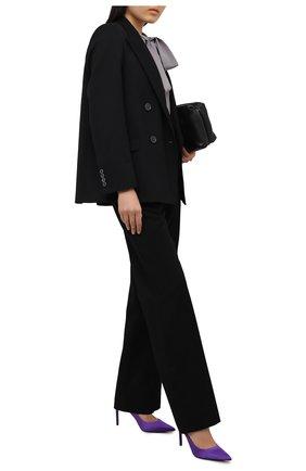 Женские текстильные туфли t-screw TOM FORD фиолетового цвета, арт. W2326T-STA | Фото 2