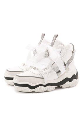 Женские комбинированные кроссовки REDVALENTINO белого цвета, арт. VQ2S0F32/YME   Фото 1