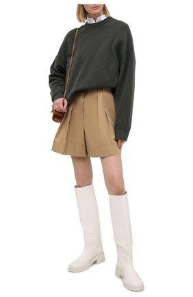 Женский кашемировый свитер EXTREME CASHMERE зеленого цвета, арт. 053/CREW H0P   Фото 2
