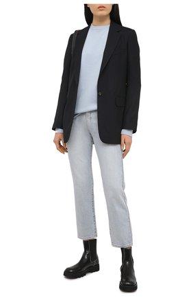 Женский кашемировый свитер EXTREME CASHMERE голубого цвета, арт. 053/CREW H0P | Фото 2
