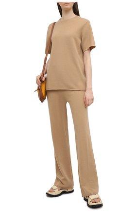 Женские кашемировые брюки EXTREME CASHMERE бежевого цвета, арт. 104/TR0USERS | Фото 2