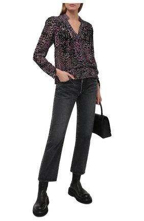 Женская блузка из вискозы и шелка ZADIG&VOLTAIRE леопардового цвета, арт. SKCS0501F   Фото 2