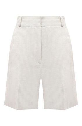 Женские льняные шорты LORO PIANA светло-бежевого цвета, арт. FAL6331 | Фото 1