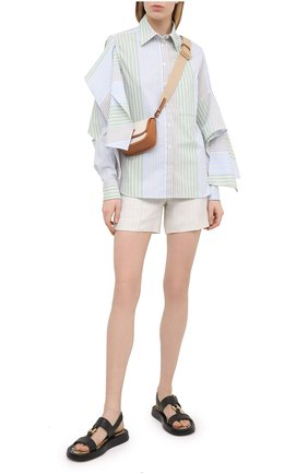 Женские льняные шорты LORO PIANA светло-бежевого цвета, арт. FAL6331 | Фото 2