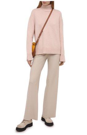 Женские кашемировые брюки LORO PIANA светло-бежевого цвета, арт. FAL5052 | Фото 2