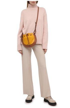 Женский кашемировый свитер LORO PIANA светло-розового цвета, арт. FAL5048 | Фото 2