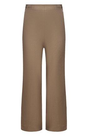 Женские льняные брюки LORO PIANA коричневого цвета, арт. FAI5929 | Фото 1