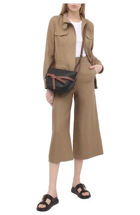 Женские льняные брюки LORO PIANA коричневого цвета, арт. FAI5929 | Фото 2