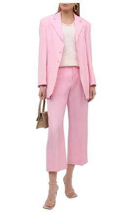 Женские брюки из вискозы и шелка JACQUEMUS розового цвета, арт. 211PA02/105440 | Фото 2