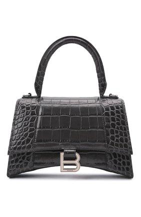 Женская сумка hourglass s BALENCIAGA серого цвета, арт. 593546/1LR6Y | Фото 1
