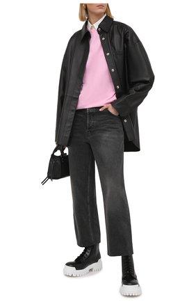 Женские кожаные ботинки strike BALENCIAGA черного цвета, арт. 590974/WA967 | Фото 2