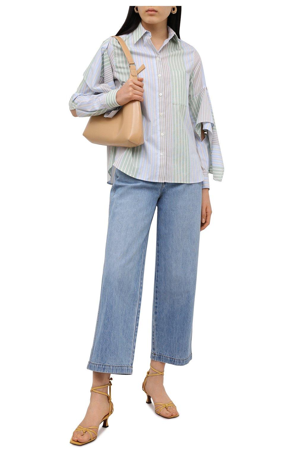 Женские кожаные босоножки MANU ATELIER желтого цвета, арт. 2021140 | Фото 2 (Каблук высота: Низкий; Материал внутренний: Натуральная кожа; Каблук тип: Устойчивый; Подошва: Плоская)
